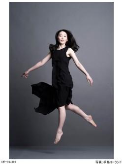 書家 木下真理子 ポートレイト Yohji Yamamoto『Woman on the move』写真:桐島ローランドさん