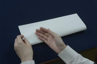 書法と美の着眼-紙に折り目をつける-
